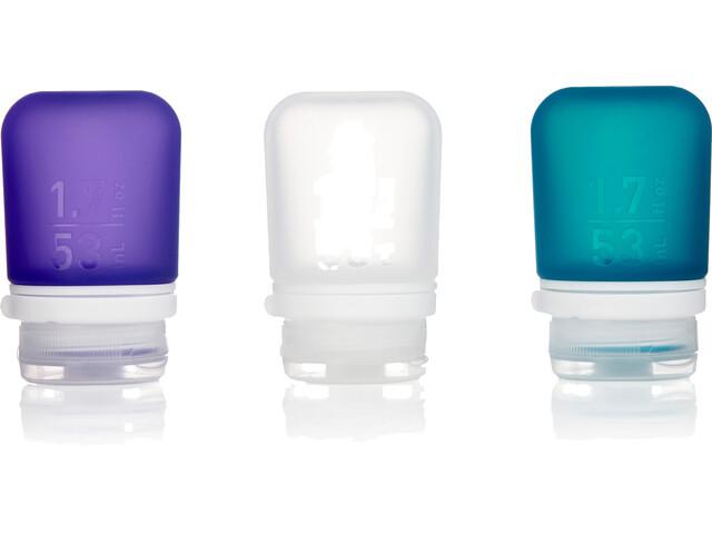 humangear GoToob 53ml 3er Pack transparent/violett/türkis